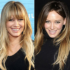 Hillary Duff growing out her blonde hair